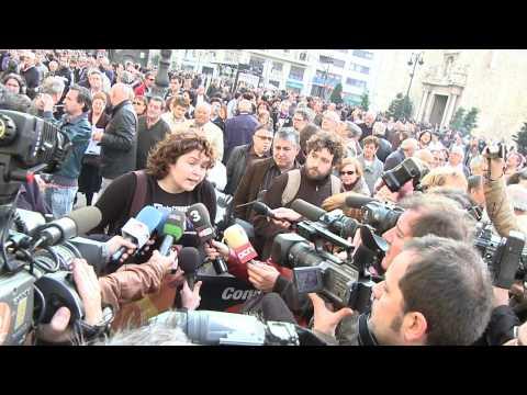 Manifestación contra la corrupción en Valencia 26 de marzo de 2011