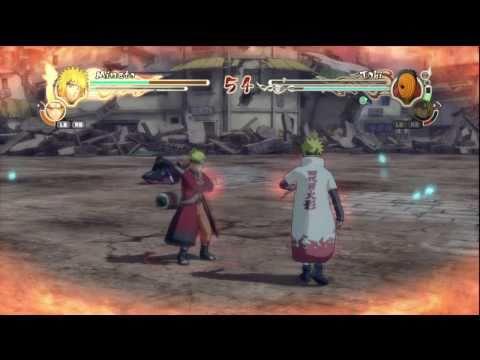 Naruto Shippuuden: Ultimate Ninja Storm 2: Minato Yondaime Ho-kage vs. Tobi (Madara Uchiha) HD