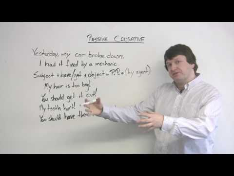 English Grammar - Passive Causative