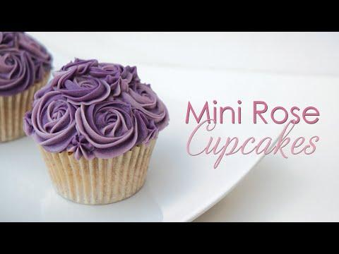 Mini Rose Cupcake - Piping Technique Tutorial