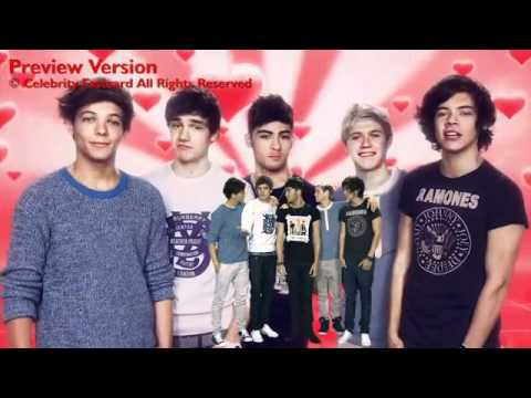 One Direction Celebrity Fast Card - Happy Valentine's Day 1