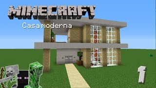 Youtube minecraft casa moderna de madera facil for Casa moderna madera minecraft