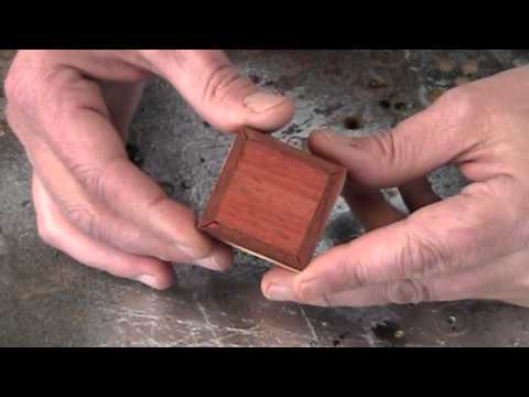 Make an itsy bitsy teeny tiny wood box...and earrings