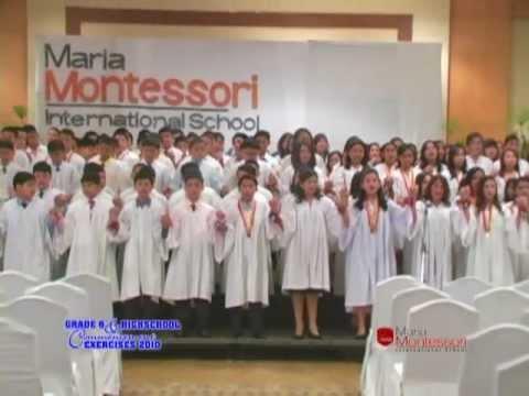 Maria Montessori Intl School Class 2009-2010 Graduation Song. OFFICIAL