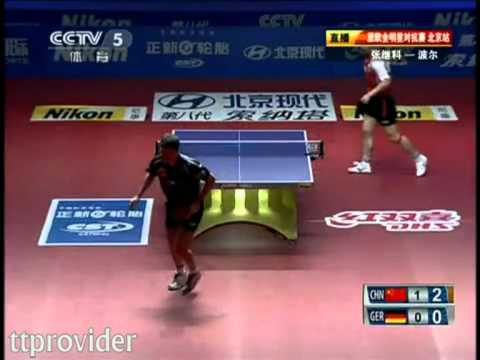 Asia vs. Europe 2011: Zhang Jike-Timo Boll