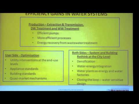 COLLEGE PLACE: 2012 Green Energy Summit: David Garmen- The Water-Energy Nexus