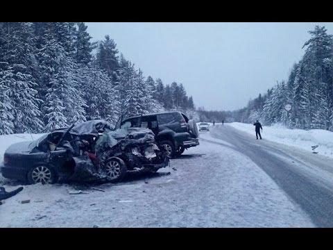 Зимние автомобильные аварии - Подборка