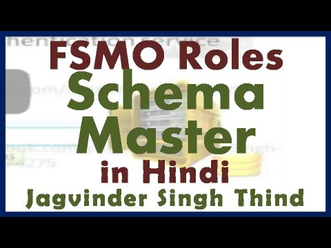 Active Directory Server 2008 Part 20 FSMO Roles Part 2 Schema Master in Hindi by JagvinderThind