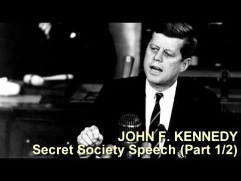 John F. Kennedy Secret Society Speech (Part 1/2)