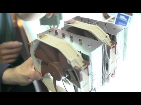Noctua Black Fans, Active Noise Canceling Heatsink - Computex 2013