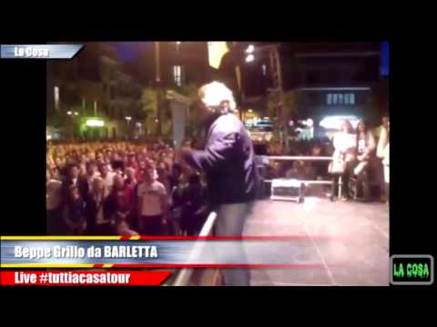 BeppeGrillo #tuttiacasatour Barletta