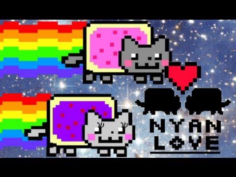 Nyan Cat falls in love!!