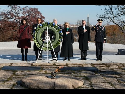 Wreath Laying Ceremony in Honor of President John F. Kennedy  11/21/13