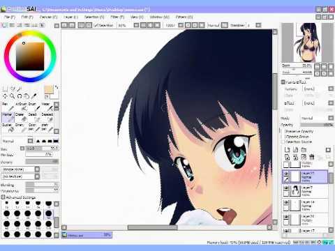 How to CG - K-On! fanart (Akiyama Mio) Mio-Bikini