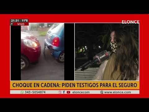 Choque en cadena: piden testigos para el seguro