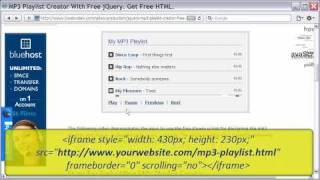 Free MP3 Playlist Creator With jQuery, Free HTML Embed Code