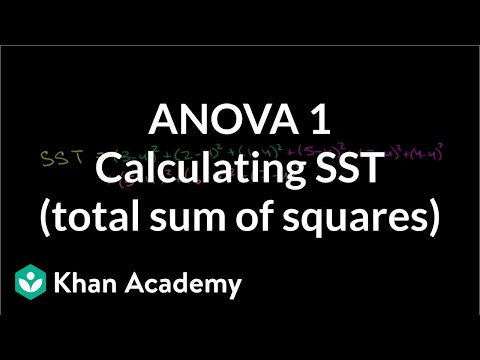ANOVA 1 - Calculating SST (Total Sum of Squares)