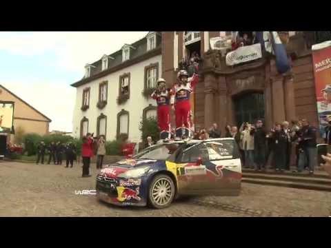 WRC 2012 - Rallye France Alsace - On board with Loeb.