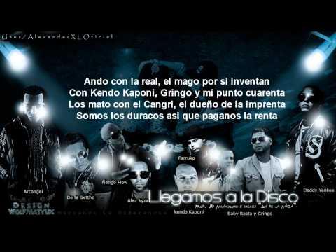 Llegamos A La Disco Letra  Daddy Yankee Ft De La Ghetto Baby Rasta & Gringo