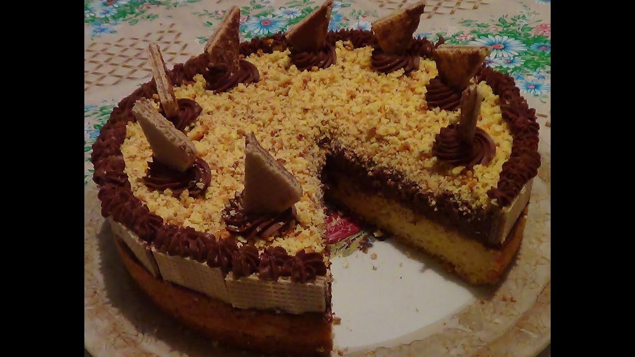Торт со сливками в домашних условиях
