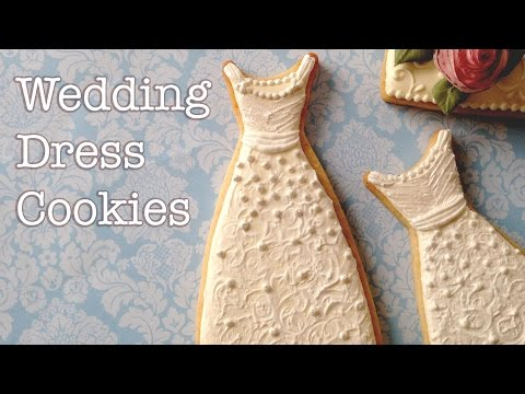 How To Decorate Wedding Dress Cookies!
