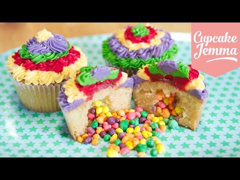 How to make Pinata Cupcakes   Cupcake Jemma