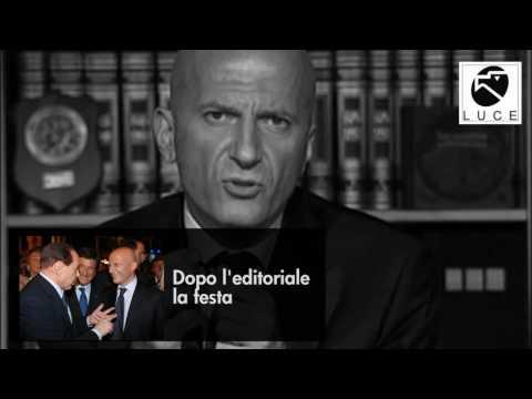 Editoriale Minzolini su Berlusconi e Fini - Manca solo il marchio dell'Istituto Luce