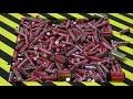 Фрагмент с середины видео EXPERIMENT Shredding 1000 BATTERIES