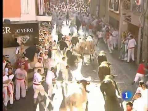 Primer encierro de San Fermín 2009 480p