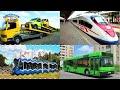 Фрагмент с начала видео Изучаем поезда и железнодорожный транспорт для детей. Развивающее видео про городской транспорт