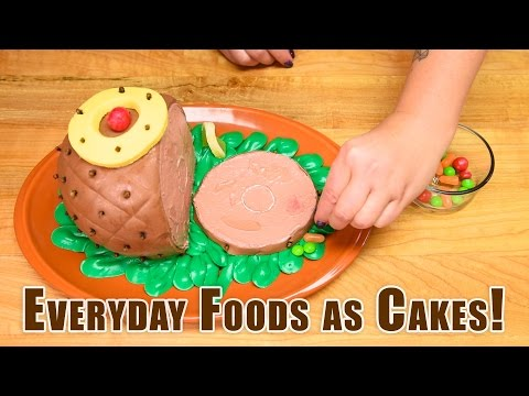 Everyday Foods as Cakes! Satisfying Cake Decorating: Coke Bottle, Pizza, Ham, Turkey, Pumpkin, Donut