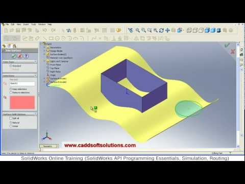 Solidworks Surface Trim Tutorial | Surface Modeling Tutorial