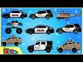 Police Car | Police Vehicles | Cars & Trucks | Videos for Children | Little Kids TV