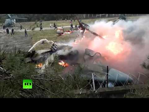 Упавший в Жулебино вертолет (НОВЫЕ КАДРЫ)