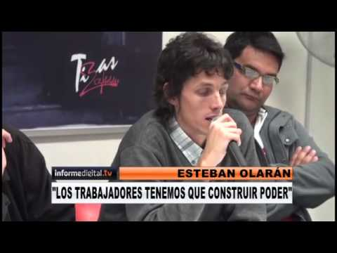 <b>Esteban Olar�n: &#8220;Tenemos que construir poder&#8221; . </b>Candidato a secretario general de CTA Entre R�os