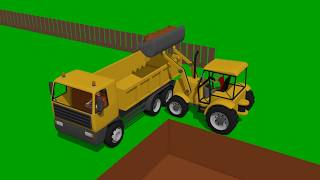 Mini Excavator, Bulldozer and other Construction vehicles for KIDS and BABIES  Fairy tales Vehicles