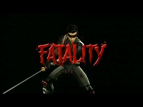 Mortal Kombat 9 - Kenshi Fatalities (New DLC Character!)