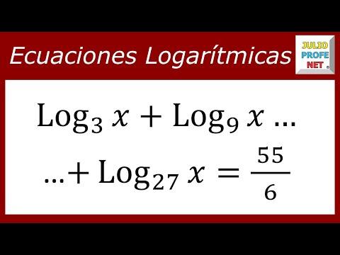 Ecuación con logaritmos de diferentes bases