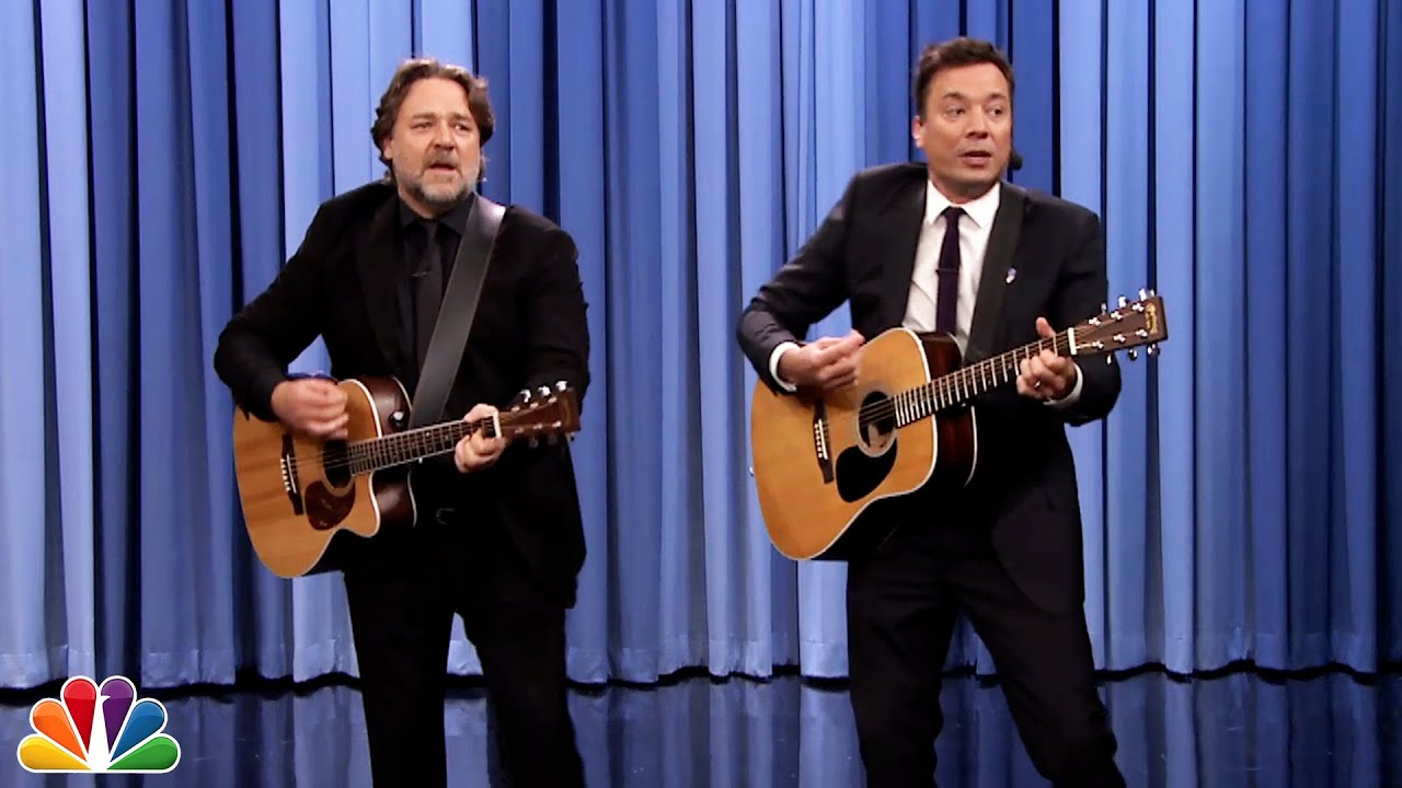 Jimmy Fallon and Russell Crowe Sing   (Comedy)