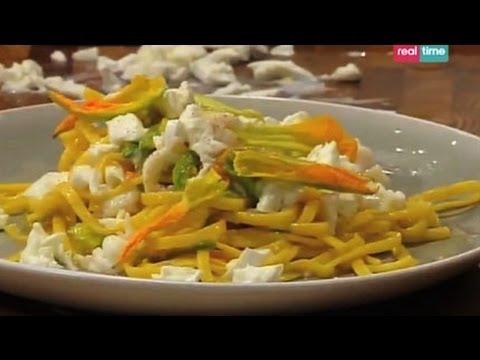 Tagliolini con scampi e fiori di zucca - Cucina con Ale: ricette