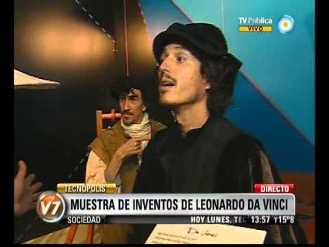Visión Siet: Tecnópolis: Genial muestra de inventos de Leonardo Da Vinci