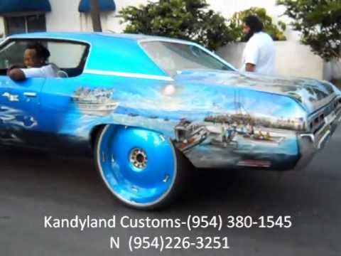AceWhips.NET- KANDYLAND CUSTOMS- Supercharged Cuban Chevy Donk on 28 Dub Floaters