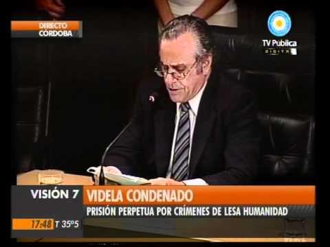 Visión Siete: Perpetua y cárcel común para Videla y Menéndez