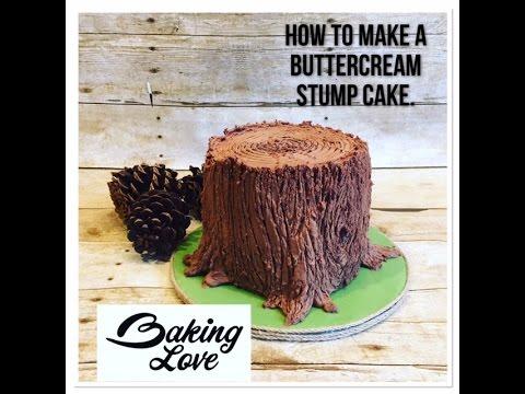 Buttercream Stump Cake