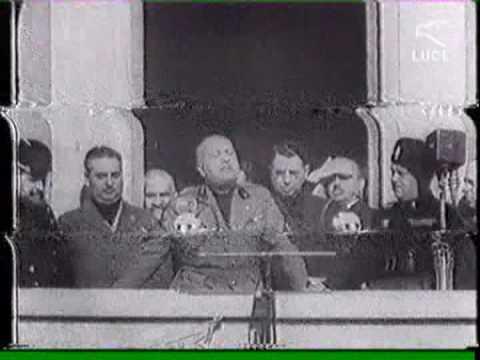 WAR MACHINE Mussolini remix by SKANNA di MEANA (immagini archivio, istituto SKANNA LUX).