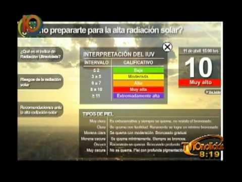 Sección Noti Matutino - Radiación Solar-Canal 10.wmv