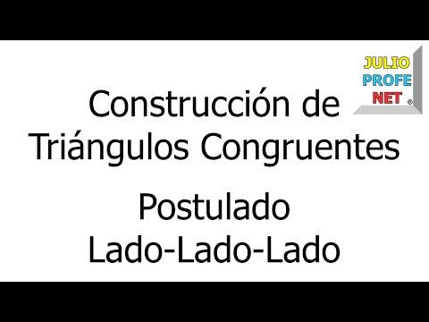 Construcción de un triángulo congruente a uno dado usando el postulado LLL