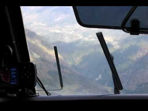 Landing at Lukla, Nepal airport