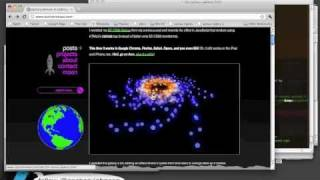 HTML5 Canvas 3D Interactive Galaxy