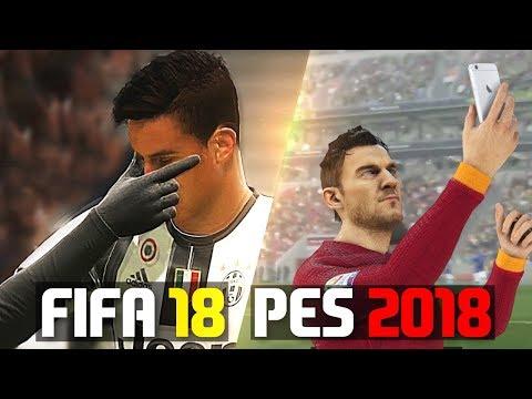 FIFA 18 VS PES 2018 | GOALS & CELEBRATIONS! - UC9WFZ0mp5QkNxIG7D17mN2Q